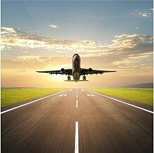 Halbglänzende Tapete Startendes Flugzeug East