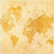 Halbglänzende Tapete Vintage Weltkarte