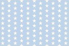 Halbglänzende Tapete Weiße Sterne auf grauen