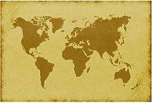 Halbglänzende Tapete Weltkarte Atlas