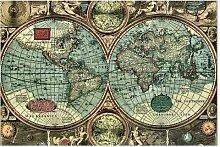 Halbglänzende Tapete Weltkarte Die alte Welt