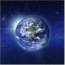Halbglänzende Tapete Weltkarte Erde im Weltall