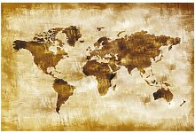 Halbglänzende Tapete Weltkarte Map of the World