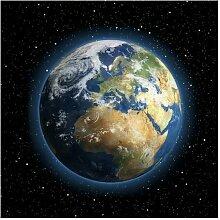 Halbglänzende Tapete Weltkarte My Earth East