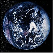 Halbglänzende Tapete Weltkarte Planet Earth East