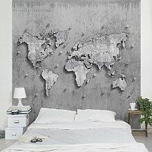 Halbglänzende Tapete Weltkarte