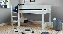 Halbhohes Bett Tacora Hochbett 90x200 cm weiß