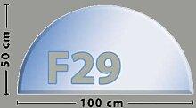 Halbkreis F29 Funkenschutzplatte - Glasplatte aus