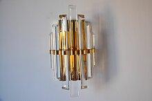 Halbkugelförmige Wandlampe aus Muranoglas mit 7