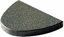 Halbovaler Grillstein aus Granit für den