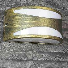 Halbrunde Außenwandlampe YORK wetterbeständig