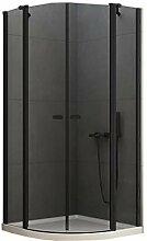 Halbrunde Duschkabine NEW SOLEO BLACK 80x80/90x90