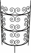 Halbrundes Rankgitter Metall dunkelrostfarben H ca. 84 cm Kletterhilfe Spalier Rankhilfe