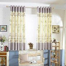Halbschatten Vorhänge für ältere Menschen der Studie/Einfachen Wohnzimmer Schlafzimmer Fenster Schatten-A 200x200cm(79x79inch)