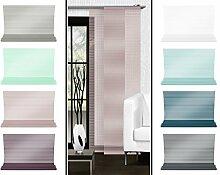 Halbtransparenter Schiebevorhang mit gelaserter Seitenkante ohne Saum - in 8 Farben - Maße ca. 245 cm x 60 cm, altrosa