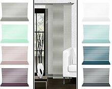 Halbtransparenter Schiebevorhang mit gelaserter Seitenkante ohne Saum - in 8 Farben - Maße ca. 245 cm x 60 cm, taupe