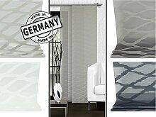 Halbtransparenter Schiebevorhang von Home Decoration - buntgewebter Scherli - made in Germany - Maße ca. 245 cm x 60 cm - erhältlich in 4 Farben, taupe