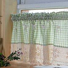 Halbvorhang Küchen-Halber Vorhänge Gitter
