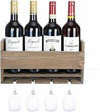 Halcent Weinregal Wand Weinflaschenhalter