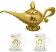 Half Moon Bay Aladdin Shaped lamp Tea Pot and Set