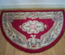 Half Moon Chinesischer Teppich, Wolle in rot