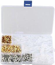 HALJIA 100Sets Kit Rundstecker 3,9mm Stecker &