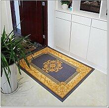 Halle Fußmatten Badteppiche European - style Druckmatten Matratzen Tür Teppich Teppich Wohnzimmer Schlafzimmer Teppich Bedside Eingangsmatte Badezimmer Teppich WC Matten ( farbe : #1 , größe : 60*90cm )