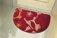 Halle Fußmatten Badteppiche Halbkreis Matratze Liebe in die Tür Matten Bad Foyer Türmatte Teppich Teppich WC Matte Badezimmer Teppich WC Matten ( farbe : #3 , größe : 40*63cm )