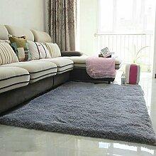 Halle Fußmatten Badteppiche Modern verdickt Seiden Teppich Wohnzimmer Couchtisch Schlafcouch Schlafzimmer Teppich Teppich Shop für Teppich (Farbe: Silber) Badezimmer Teppich WC Matten ( größe : 1.4*2.0 M )