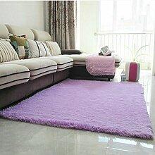 Halle Fußmatten Badteppiche Modern verdickt Seiden Teppich Wohnzimmer Couchtisch Schlafcouch Schlafzimmer Teppich Teppich Shop für Teppich (Farbe: lila) Badezimmer Teppich WC Matten ( größe : 1.2*1.6 M )