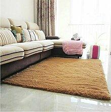 Halle Fußmatten Badteppiche Modern verdickt Seidig Teppich Wohnzimmer Couchtisch Sofa Bett Schlafzimmer Teppich Teppich Shop für Teppich (Farbe: khaki) Badezimmer Teppich WC Matten ( größe : #6 )