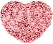Halle Fußmatten Badteppiche osmanen teppich mats fußabtreter eine herzförmige rote 50 * 60 Badezimmer Teppich WC Matten ( Farbe : Pink )