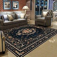 Halle Fußmatten Badteppiche pastoral Schlafzimmer Wohnzimmer Couchtisch Tuch Chenille Teppich-Shop für blaue Heim Tür Badezimmer Teppich WC Matten ( größe : 120*180CM )