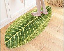 Halle Fußmatten Badteppiche Tür zu Tür Matratze Tür Matte Schlafzimmer Küche Teppich Bedside Bed Mat Badezimmer Teppich WC Matten ( größe : 45*75cm )