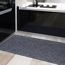 Halle verdicken Staubdicht Teppich PVC-Kunststoff Schäumen Rutschfest Teppich Türmatten , grey , 65*200cm