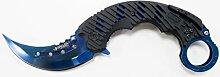Haller 84737 Karambit Taschenmesser blue Messer,