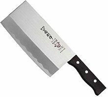 Haller Japanisches Hackbeil Messer, Silber
