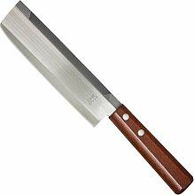 Haller Nakiri Chinesisches Kochmesser mit Holzgriff