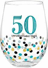 Hallmark 50 Unforgettable Years Weinglas ohne Stiel