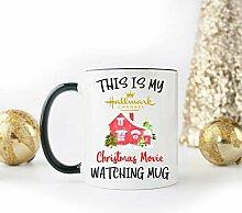 Hallmark Weihnachtstasse mit Filmen,