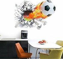 HALLOBO® Wandaufkleber XL 3D Fussball Fußball Sport Fenster Wandtattoo Aufkleber Wandsticker Kinderzimmer Kinder Baby Versand aus Deutschland
