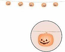 Halloween 1.8m M orangfarbene Kürbis Lichterketten Party-Dekoration Kostüm Zubehör