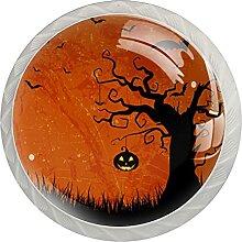 Halloween 4 Stück Schranktürgriffe, Rundgriffe,