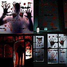 Halloween Blutiger Handabdruck Fußabdruck