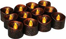 Halloween Candle Light Schwarze LED-Kerze
