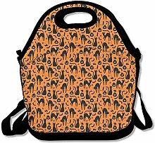 Halloween Cat Gift Lunch Bag Tote Handbag Lunchbox