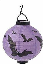 Halloween Dekoration Papier LED Laterne Hängende
