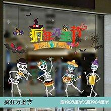 Halloween Dekoration Tür Aufkleber Kürbis