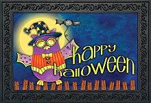 Halloween Eule Primitiv Fußmatte Spooky Urlaub