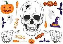 Halloween Fenster Wandaufkleber Halloween Fenster